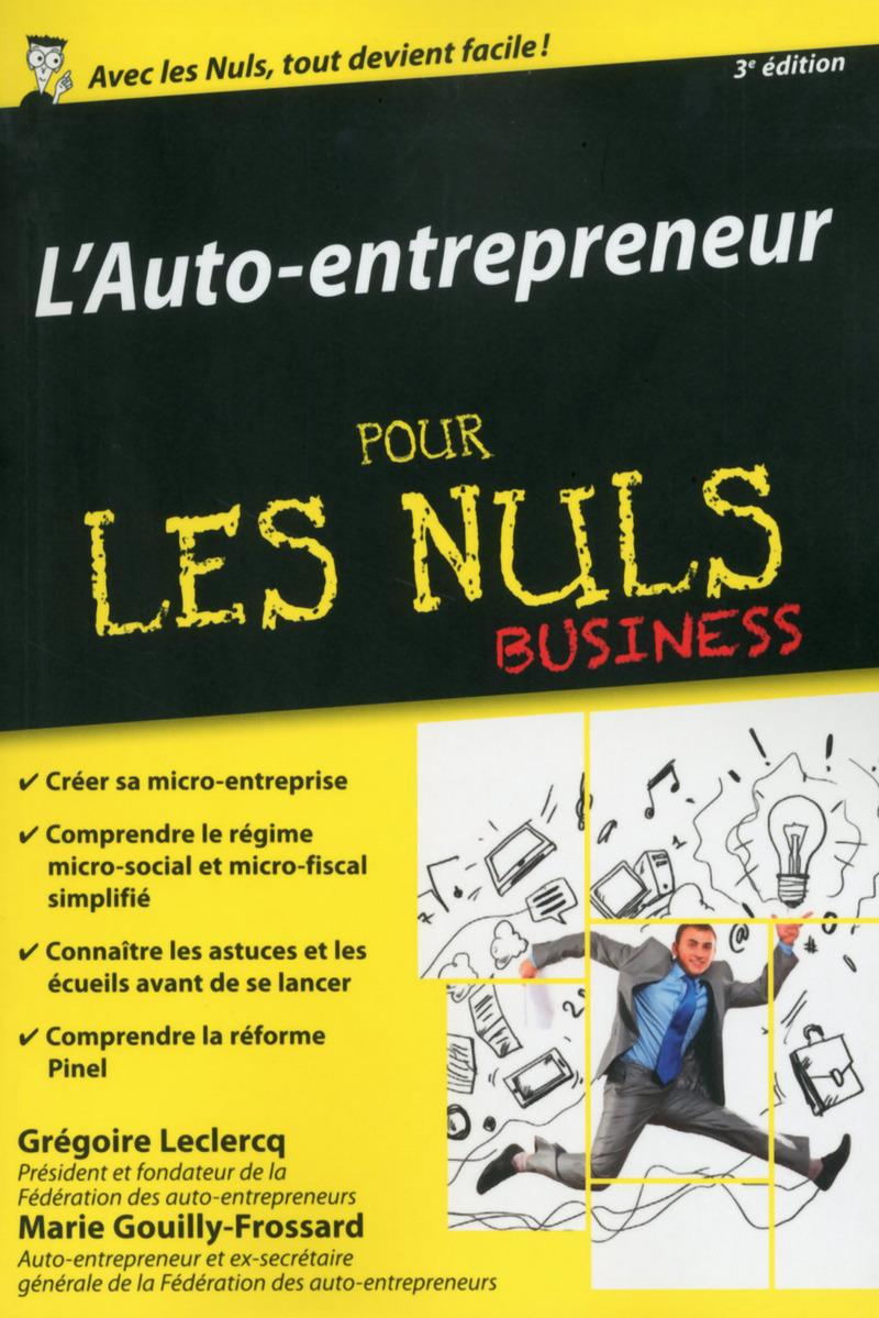L 39 auto entrepreneur poche pour les nuls business 3e for Auteur auto entrepreneur