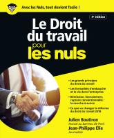 Le Droit du travail pour les Nuls, grand format, 4e édition