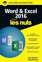 Word et Excel 2016 pour les Nuls, poche, 2e édition