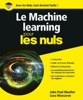 Le Machine learning pour les Nuls, grand format