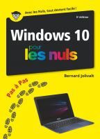 Windows 10 pas à pas pour les Nuls, 5 éd.