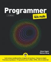 Programmer pour les Nuls, grand format, 4 éd.