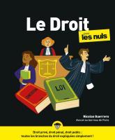Le Droit pour les Nuls, grand format, 2ed éd.