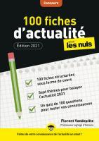 100 fiches d'actualité pour les Nuls Concours, 3e édition