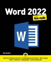 Word 2022 pour les Nuls, grand format