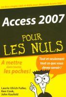 Access 2007 Poche Pour les Nuls