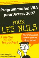 Programmation VBA pour Access 2007 Poche pour les nuls