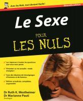 Le Sexe nouvelle édition Pour les nuls