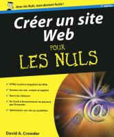 Créer un site Web 7e Pour les nuls