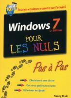 Windows 7 2e Pas à pas Pour les nuls