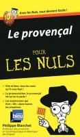 Le provençal - Guide de conversation Pour les nuls (Le)