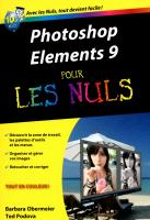 Photoshop Elements 9 Poche Pour les nuls