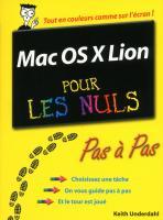 Mac OS X Lion Pas à pas Pour les Nuls