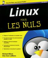 Linux pour les Nuls 10e édition