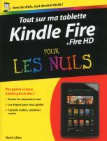 Tout sur ma tablette Kindle Fire Pour les Nuls