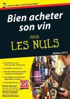 Bien acheter son vin Pour les Nuls
