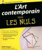 L'Art contemporain pour les Nuls