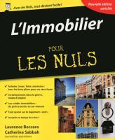 L'Immobilier pour les Nuls, 4e édition
