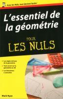 Essentiel de la géométrie Pour les Nuls