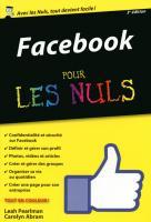 Facebook pour les Nuls version poche, nouvelle édition