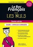 Le Bac Français pour les Nuls, nouvelle édition