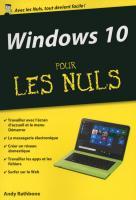 Windows 10 pour les Nuls poche