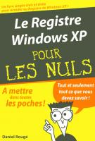 Le Registre Windows XP Poche Pour les Nuls