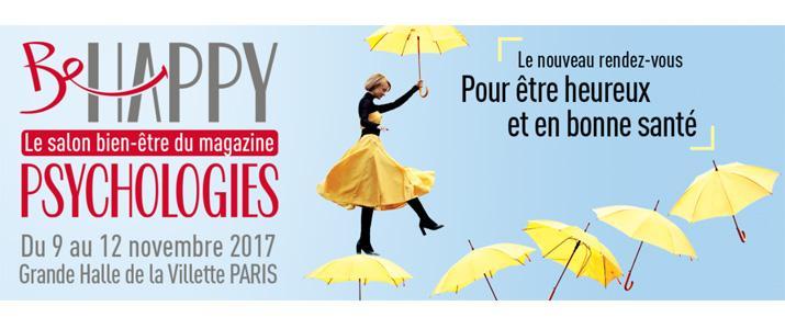 image évènement : Retrouvez-nous au Salon Be Happy du magazine Psychologie