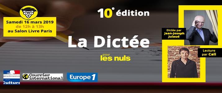 image évènement :  C'est la 10e édition de la Dictée pour les Nuls !