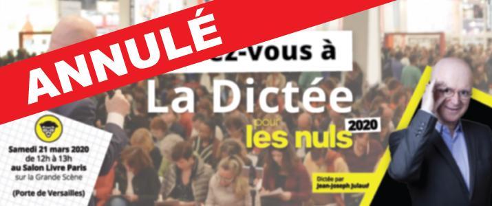 image évènement : Dictée pour les Nuls de Livre Paris 2020
