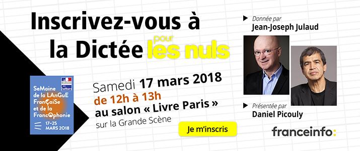 image évènement : Dictée pour les Nuls du salon Livre Paris