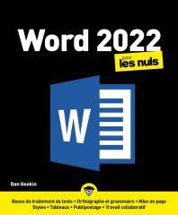 Word 2021 pour les Nuls, grand format