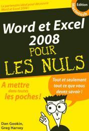 Word et Excel 2008 Mac Poche Pour les Nuls