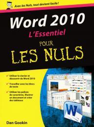Word 2010 L'essentiel Pour les nuls