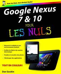 Google Nexus 7 et 10 Pour les Nuls