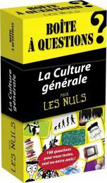 Boîte à questions - La Culture générale pour les Nuls