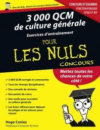 3000 QCM de Culture générale - Concours de la fonction publique pour les Nuls