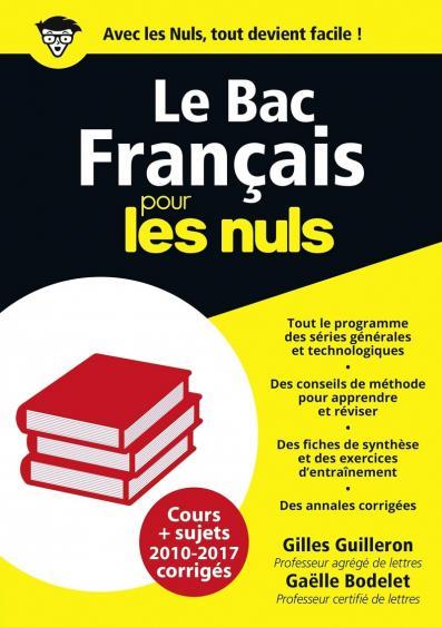 Bac Français 2018 Pour les Nuls