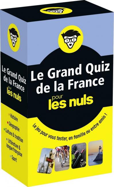 Boîte à questions - Le Grand Quiz de la France pour les Nuls - Le jeu pour vous tester, en famille ou entre amis!