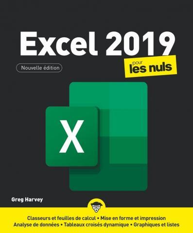 Excel 2019 pour les Nuls, grand format, 2e éd