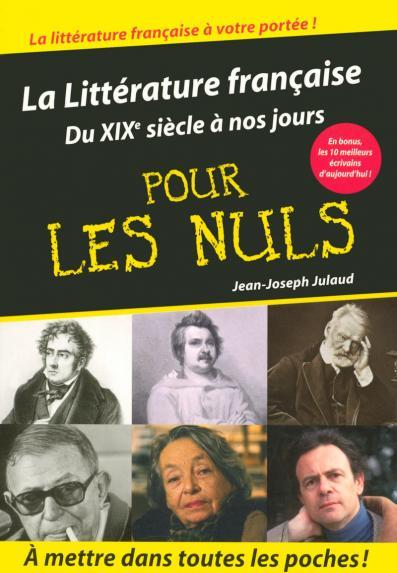 Littérature française Tome 2 poche pour les nuls