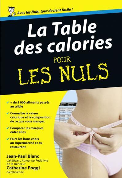 Table des calories Poche Pour les Nuls