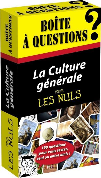 La Boîte à questions – Culture générale pour les Nuls