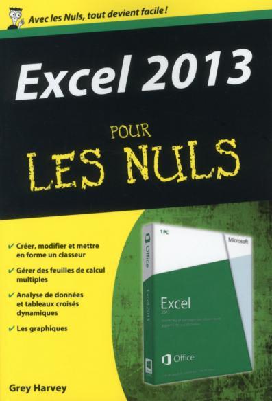 Excel 2013 Poche pour les Nuls