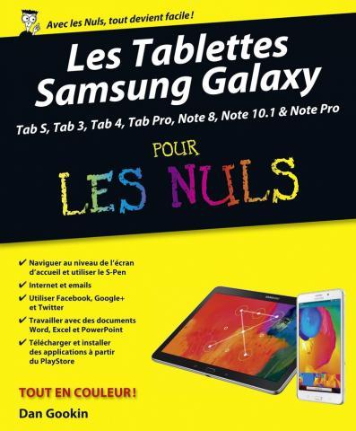 Les Tablettes Samsung Galaxy Tab Pour les Nuls, nouvelle édition