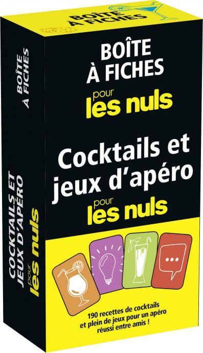 Boîte à fiches cocktails et jeux d'apéro pour les Nuls,4e